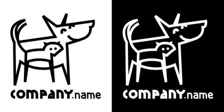 funny cats: identity icon with dog and cat