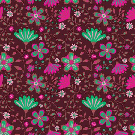 blumen abstrakt: Floral abstract seamless pattern Illustration