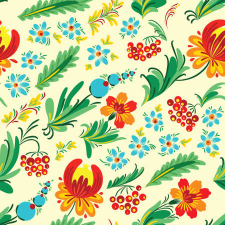 petrikovka: Ukrainian floral  seamless pattern, called petrikivka (petrikovka)