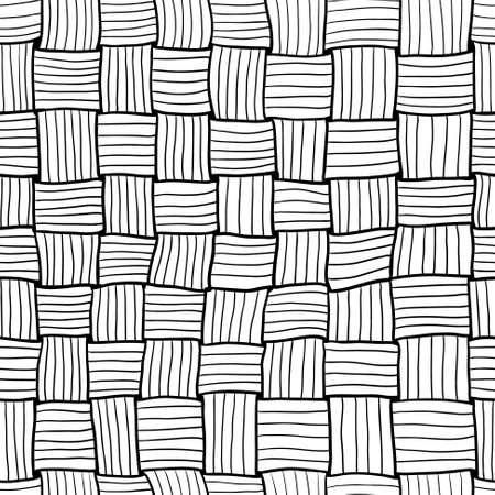 matting: Garabato dibujado a mano de tejer patr�n abstracto sin fisuras