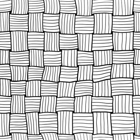bast: Hand-drawn doodle abstract  knitting seamless pattern