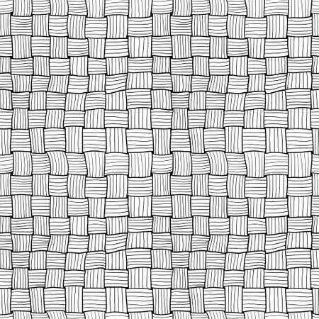 bast: Hand-drawn doodle abstract weaving seamless pattern Illustration