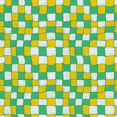 wickerwork: Abstract hand-drawn matting seamless pattern