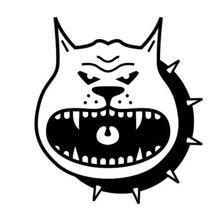 perro furioso: Cartoon perro enojado forma vectorial