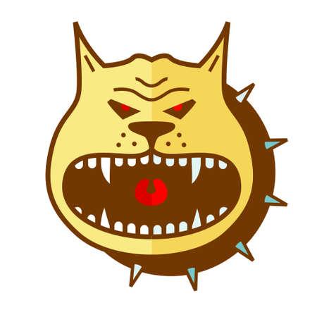 angry dog: Cartoon angry dog  vector shape