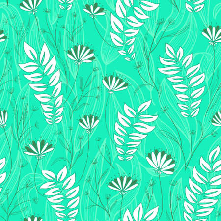 the simplicity: Abstract simplicity floral seamless background