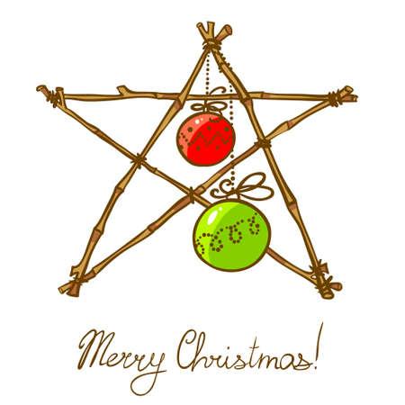 별: Christmas doodle star decoration
