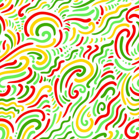 abstract doodle: Abstract doodle bright seamless pattern Illustration