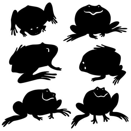 anuran: Silhouettes of frogs