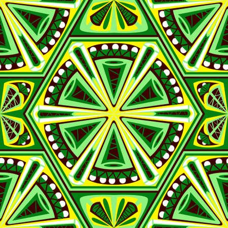 style geometric: Geometric seamless pattern in boho style Illustration