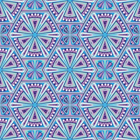 normal: Geometric seamless pattern in boho style Illustration