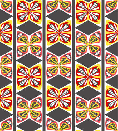 regular tetragon: Geometric seamless pattern in boho style Illustration