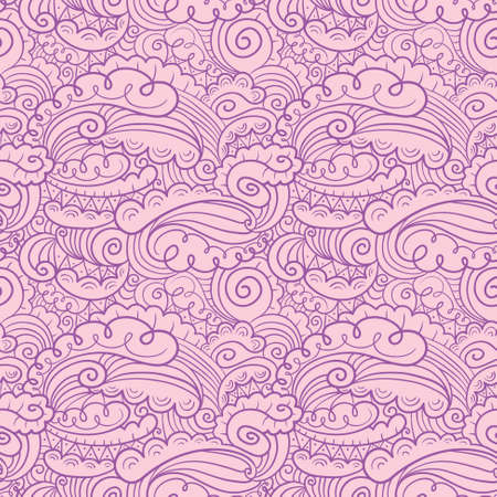 abstract doodle: Vector hand-drawn abstract seamless pattern in doodle style