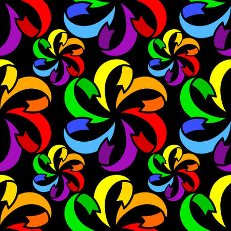 rainbow colors: Abstract seamless pattern in rainbow colors