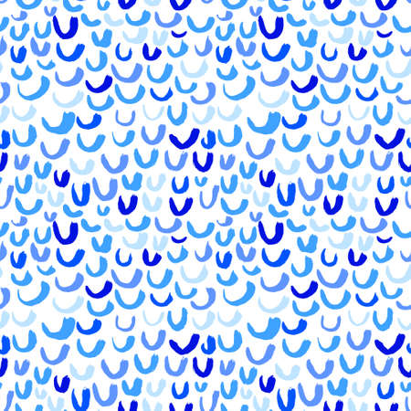 stream of water: Vector seamless pattern with waves. Stripped artistic background on marine theme in doodle minimalistic style. Design for backdrops with sea, rivers or water texture