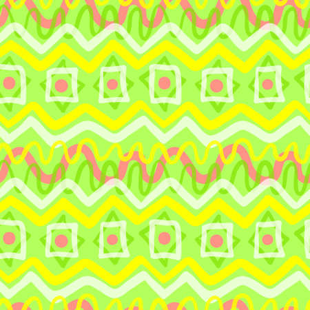 Abstract geometric seamless pattern. Background with transparency elements in bright colors. For fabric, surfaces, wrapping paper and other items.