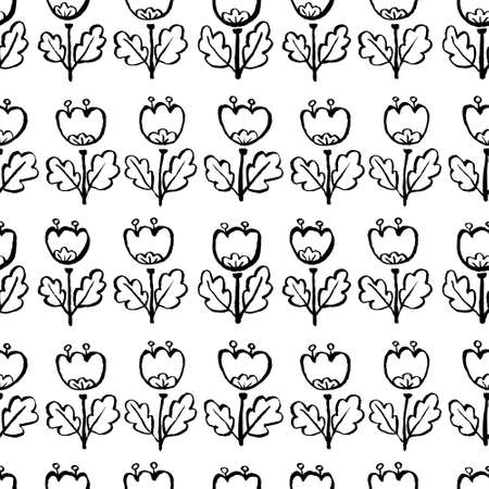 Tulip flowers seamless pattern.