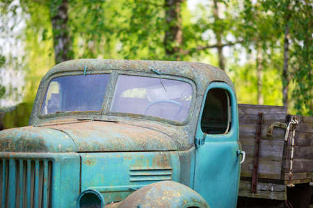 Abandon for years and old trucks