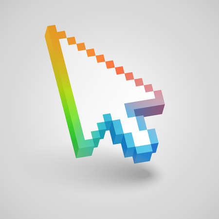 Colorful mouse arrow cursor  Vector illustration   Vector