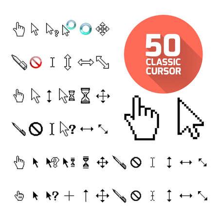 mouse pointer: Classic cursor pack. Vector illustration Illustration