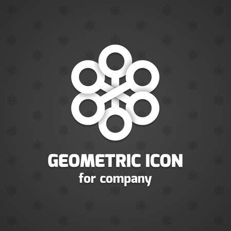 Abstract icon element for business name. Vector