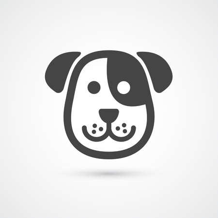 Симпатичные значок собака. Элемент вектора для дизайна