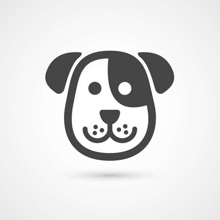 Cute dog icon . Vector element for design