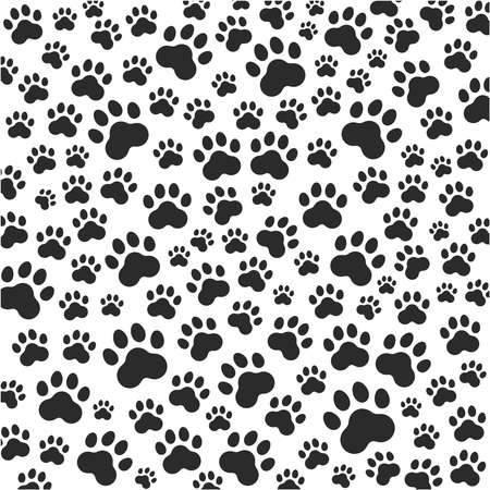 Cat or dog paws background. Vector