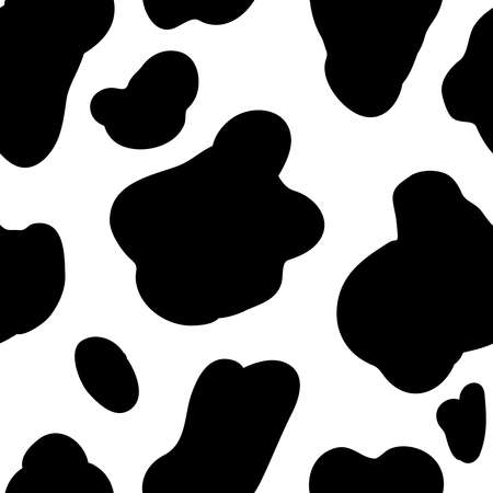 Cow pattern background. Vector design element Illustration