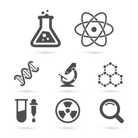 Wetenschap trendy pictogrammen pack. Vector elementen