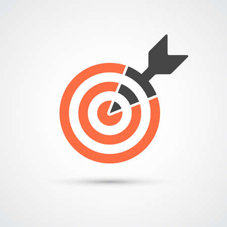 intent: Target icon for business or sport