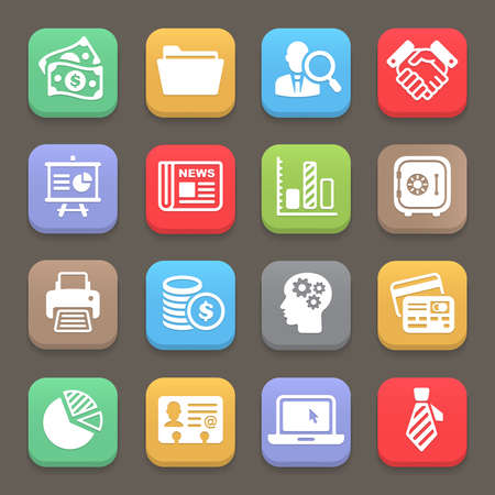 Business and finance icon for web, mobile. Vector