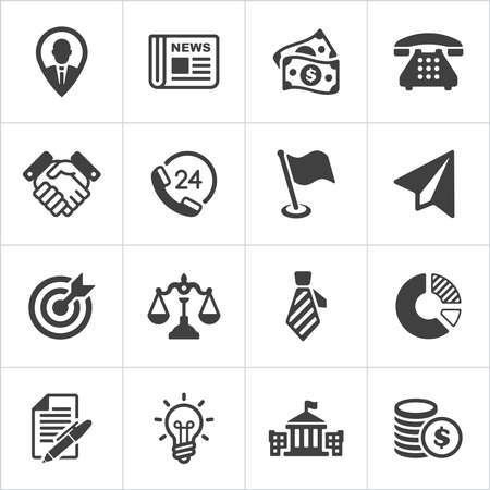 finance icon: Trendy business and economics icons set 1. Vector