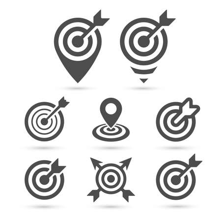 Trendy Target icon for business and interface Illustration
