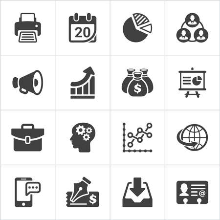 Trendy business and economics icons set 2. Vector