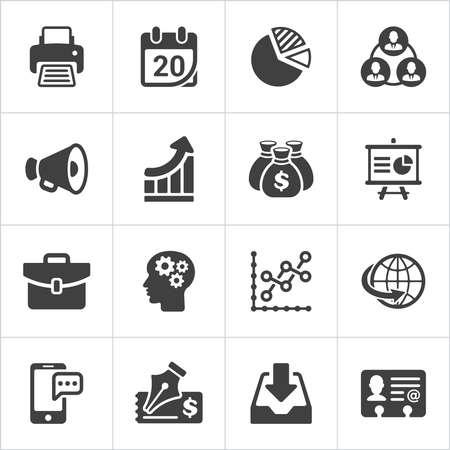 Trendy business and economics icons set 2. Vector