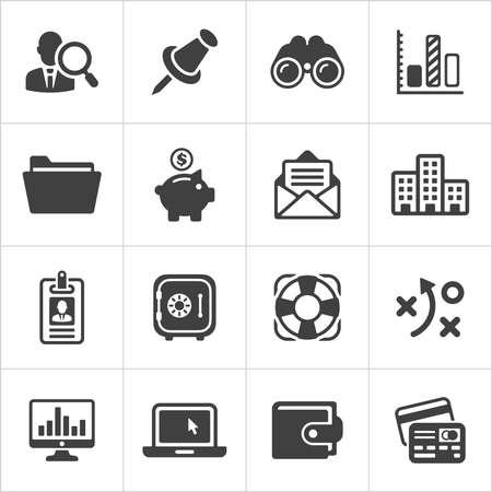 Trendy business and economics icons set 3. Vector
