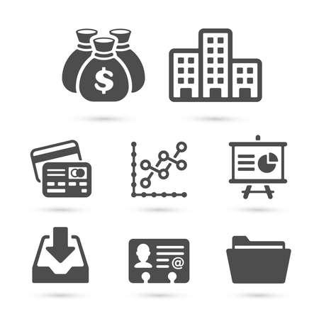 signo pesos: Iconos de las finanzas de negocios aislados en blanco conjunto 4. Ilustración del vector