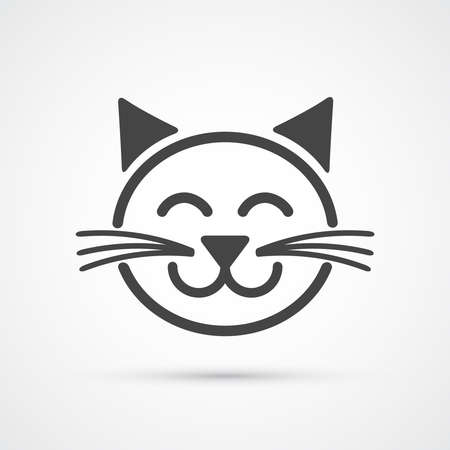 domestic cat: Cat icon . Vector element for your design Illustration