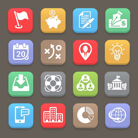 interface scheme: Business and finance icon for web, mobile. Vector illustration