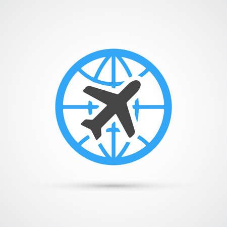 air plane: Trendy airplane travel flight icon. Vector illustration