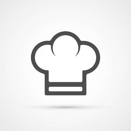 cook cap: Chef cook cap trendy icon. Vector illustration