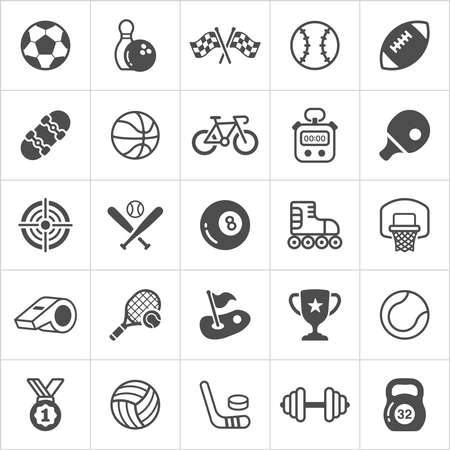 Trendy Sport flach modische Ikonen. Vektor-Illustration