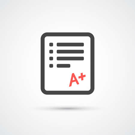 test paper: Test paper trendy flat icon.  Vector illustration Illustration