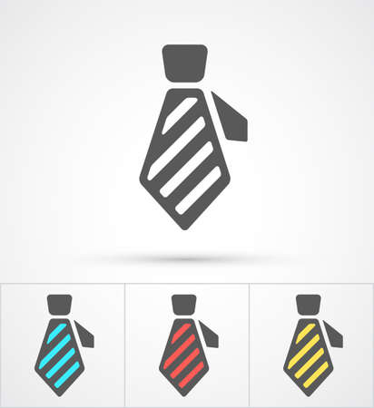 business shirts: Necktie colorful flat trendy icon. Vector illustration