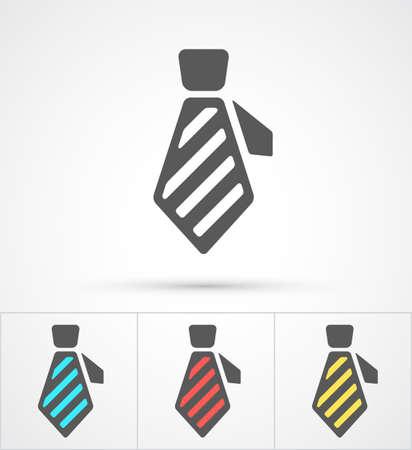 Necktie colorful flat trendy icon. Vector illustration