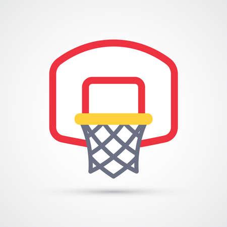 Basketball basket trendy color symbol. Vector eps 10 일러스트