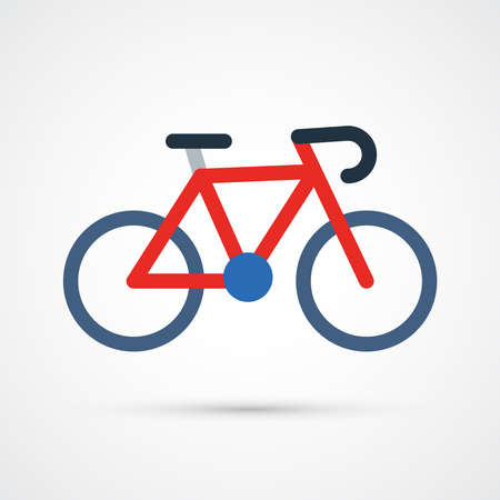 Colored Bicycle illustration. Trendy vector eps 10 symbol