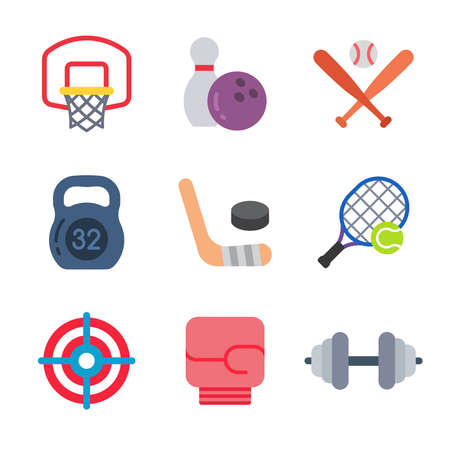 Sport and games modern color icon pack set 2. Vector eps 10 elements