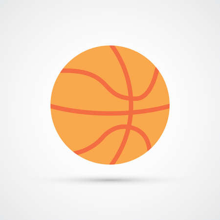 Trendy basketball ball color icon. Vector eps 10